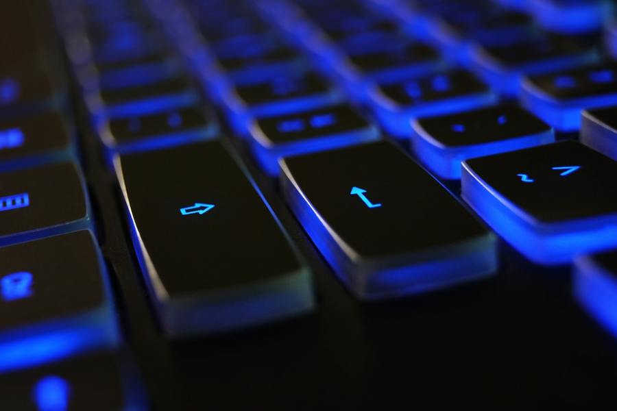 Closeup Photo Of Black And Blue Keyboard 1194713